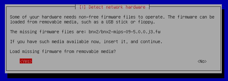 Installer tous les FIRMWARES au moment de l'installation de Debian