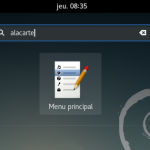 Alacarte – Paramétrer le Menu Principal DEBIAN