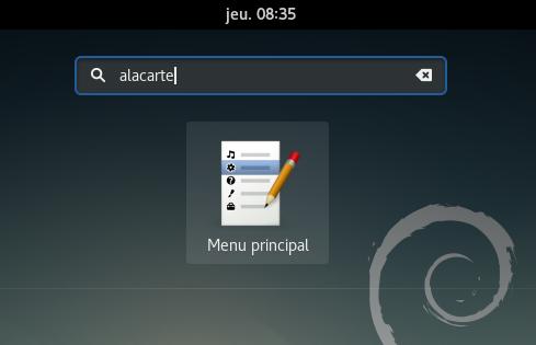 Alacarte – Menu Principal