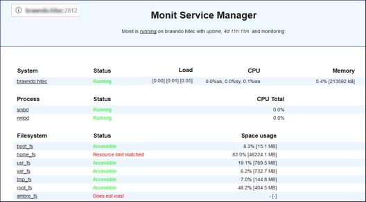 Installer et paramétrer MONIT
