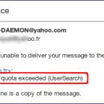 Messagerie Free pleine !  user quota exceeded