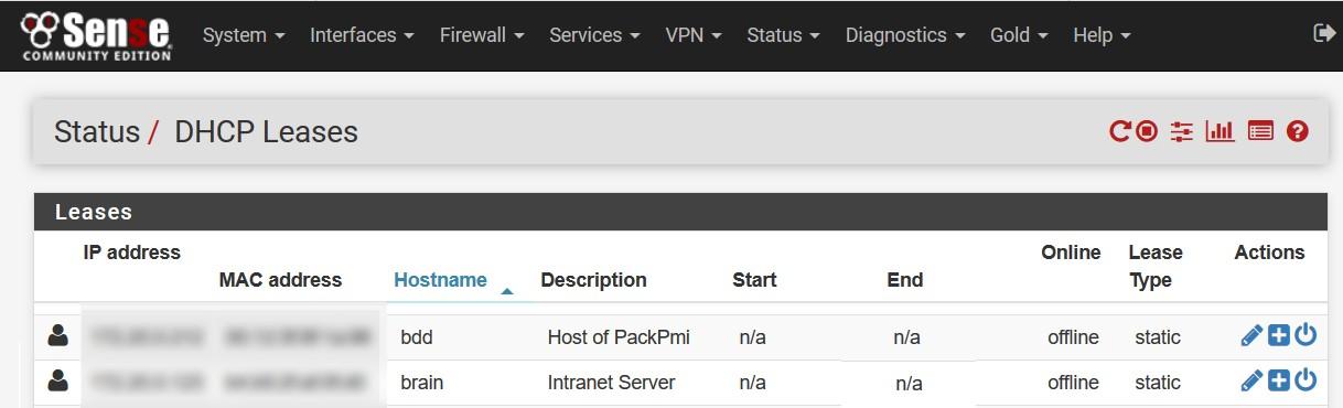 Ajouter un serveur avec IP static sur Pfsense