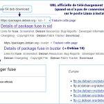 URL officielle Debian pour télécharger paquets .deb